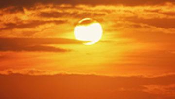 A warm sunset.
